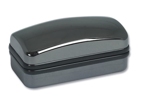 Gunmetal Finish Cufflink Case